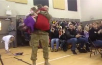 Kids Swept Up by Surprise Reunion
