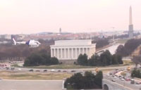 AS 350 A-Star Helicopter Over DC