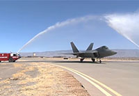 F-22 Water Salute Holloman