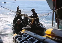 Marines Launch and Recover RHIBs
