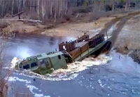 Russian Tracked Transporter vs. River