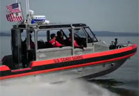 CG Breaks in 29-foot Response Boat
