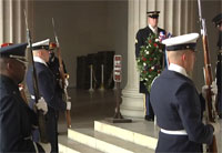 Lincoln Full Honors Wreath Ceremony