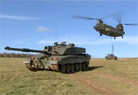 Challenger 2 Tanks and Chinooks