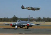 Spitfire Buzzes Temora Aviation Museum