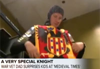 Military Kids Get One Special Knight