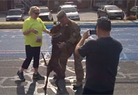 Dog is Psyched to See Airman Home
