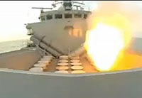 HMS Iron Duke Fires Sea Wolf Missile