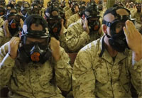 Marine Recruits Hit the Gas Chamber