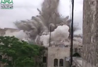 Huge Explosion Destroys Hotel in Syria