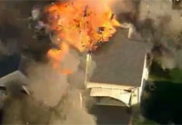 House Explodes During Police Shooting