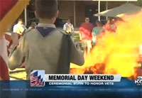 US Flags Burned in Special Ceremony
