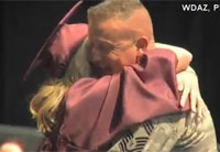 Soldier Surprises Daughter at Graduation