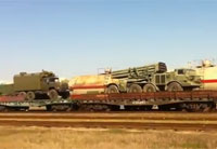 Russian Rocket System on Railway