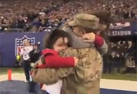 Surprise Homecoming at Giants Game