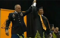 Soldier Surprises Son at Graduation