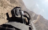 F-15 Maneuvers Through Canyons