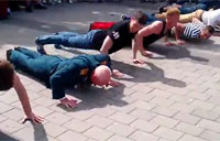 Veteran Owns Push Up Contest