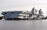 HMS Queen Elizabeth Floats for First Time