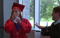 Soldier Crashes Little Sister's Graduation