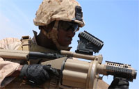 Combat Engineers Fire Grenade Launchers
