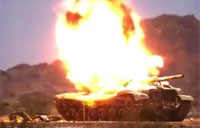 TOW Missile Impact in Super Slow Motion