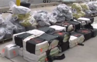 Coast Guard Offloads Bales of Cocaine