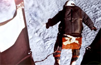 The First Man to Jump from Space