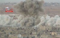 Two Huge Barrel Bombs Dropped on Aleppo