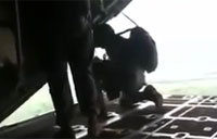 Jumpmaster Gets Sucked Out of Plane