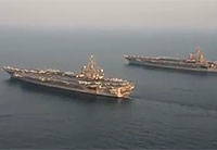 USS Carl Vinson Relieves USS George HW Bush