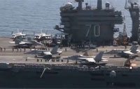 USS Carl Vinson Takes Over Air Strikes