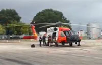 Coast Guard MH-60 Rescues 'Bubble Boy'