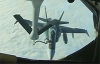 KC-135 Refuels a CF-18 in Fast Forward