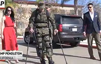Marine with Robotic Leg Walks to Receive Bronze Star