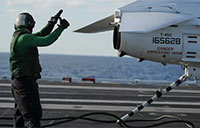 Arresting Gear in Action on USS Theodore Roosevelt