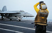 USS Carl Vinson Conducts Strikes against ISIL