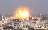 Large Bomb Explodes in Damascus