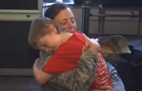 Military Mom Surprises Twins for the Holidays