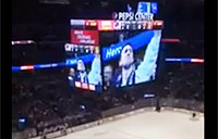 British Army Vet Honored at US Hockey Game