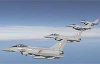 Eurofighter Formation En Route to Red Flag