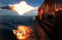 Tomahawk Missile Punches Hole in Moving Target