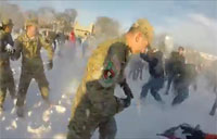 Snowball Fight! Cadets vs. Civilians!