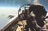 Epic Fighter Pilot Snickers Pass!