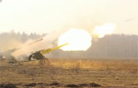Russian Artillery Live Fire Exercise