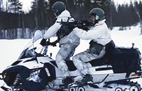 Live Fire Training from Snowmobile!