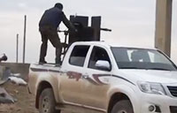 Kurdish Fighters in Battle with ISIS