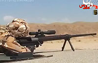 Iranian Soldiers Fire Shaher 14.5mm Sniper Rifle