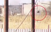 Russian Separatists Hit by ATGM