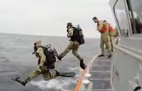 Spec Ops Guardsman train with the Navy & CG